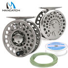 Classic Fly Reel 2/3/4 WT Clicker And Pawl Drag Trout Reel & Fly Line Combo
