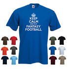 'Keep Calm and Play Fantasy Football' Funny Men's t-shirt