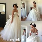 2016 New Tulle Wedding Dress A-Line Charming Garden Bridal Gowns With Appliques