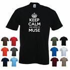 'Keep Calm and Listen to Muse' Music Men's Birthday Gift T-shirt