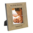 Me & My Mummy Wood Frame 7x5 Wooden Picture Mum Gift Personalised Engraved