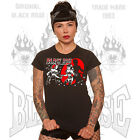 Black Rose Clothing Switchblade Fighting Girls T`shirt Vince Ray Print Pin-Ups