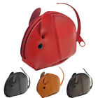 Lambland Small Genuine Leather Mouse Coin Purse - Black, Brown, Red, Tan