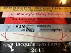 50TH 40TH 30TH 21ST 18TH 16TH 13TH PERSONALISED BIRTHDAY AGE NIGHT SASH GIFT NEW