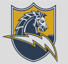 Cross stitch chart, San Diego, Chargers, NFL, American, Football, US.