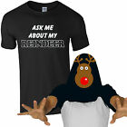 Ask Me About My Reindeer T-Shirt Funny Christmas Rudolph Kids Mens Gift Flip Top
