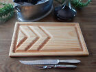 CARVING CHOPPING MEAT BOARD BIG 29X50CM SIZE 250ML JUS GROOVES AUSTRALIAN MADE