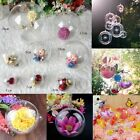 10 Pack Wedding ChristmasTree Ball Ornament Transparent Plastic Bauble Candy Box
