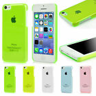 SUPER SLIM CLEAR CRYSTAL HARD CASE IPHONE 5C SNAP ON COVER SKIN BACK SHELL APPLE