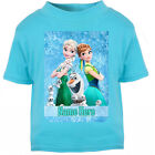 NEW Personalised Frozen t-shirt Boys Girls Top Age Size Elsa Anna kids Gift Idea