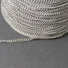 316 Stainless Steel Jewellers Fine Curb Chain~Per Meter~Findings~Wholesale UK