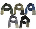 """1.5"""" Poly Web Belt with Military Style Roller Buckle All Sizes Choose Your Color"""