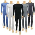 Full Set Mens Thermal Underwear Long Sleeve Vest Top & Long Johns Winter Trouser