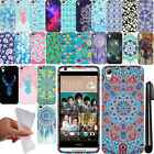 For HTC Desire 626 626S TPU PATTERN SILICONE Rubber GEL Soft Case Cover + Pen