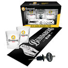 Bundy Bundaberg Rum Bar Runner Mat, Spirit Glasses & Pourer Fathers Day Gift Set