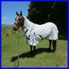 LOVE MY HORSE 5'0 - 6'6  Blue Poly Cotton Diamond Weave Ripstop Combo Rug