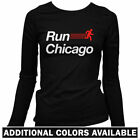 Run Chicago V2 Women's Long Sleeve T-shirt LS - Runner Marathon Running - S-2X