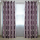 STON 2x Ring Top Door Window Blackout Blockout Purple Curtains Fully Lined Drape