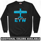 Fly Key West EYW Airport Sweatshirt Crewneck - Florida Keys Vacation Men - S-3XL