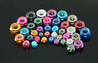 M2 2mm Aluminum Flanged Nylon Lock Nut X 10 Purple Blue Red Gold Pink Green Gray