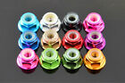 M4 4mm Aluminum Flanged Nylon Lock Nut X 10 silver Blue Red Gold Pink Grey black