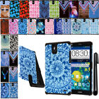 For ZTE Grand X Max Z787 ShockProof HYBRID Silicone HARD SOFT Case Cover + Pen