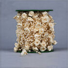 30m Roses Pearl Hanging Bead Garland Chandelier 98 FT Wedding/ Home Decorations