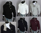 New Men's casual buckle zipper Long Sleeve Hoodies Slim T-Shirts Size M