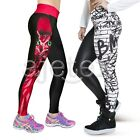 Sexy 3D Graphic Printed Women Leggings Pant Yoga Gym Funky Trousers S-XL