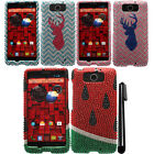 For Motorola Droid MAXX XT1080M DIAMOND BLING CRYSTAL HARD Case Cover + Pen