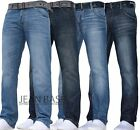 MENS CROSSHATCH STRAIGHT LEG DARK BLUE JEANS ALL WAIST SIZES JEANBASE NW1