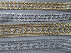 Silver / Gold Metallic Braid 3cm or 2cm widths Crafts/ Costume/ Corsetry/ Sewing