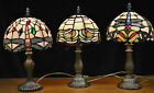 TIFFANY DRAGONFLY ART DECO STYLE STAINED GLASS TABLE LAMP (CHOICE OF 3 DESIGNS)