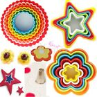 Star Flower Cookies Cutter Cake Decor Biscuit Pastry Mold DIY Plastic Mould