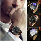 Luxury Men's Watch Stylish Business Faux Leather Quartz Analog Watch Watches