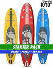 "Two Bare Feet Model III 10'10"" STARTER PACK Inflatable SUP Stand Up Paddle"