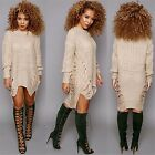 Winter Women Dress Sexy Hole Knitted Sweater Dress Elegant Ladies Party Dresses