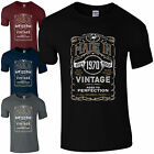 Made in 1970 T-Shirt Born 46th Year Birthday Age Present Vintage Funny Mens Gift