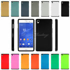 xpera z - Hybrid Hard Back Shockproof Tough Slim Armor Case Cover For Sony Xperia Phones