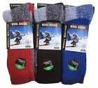 "2,4, Pairs Men's  Wool Thermal Socks Fits 10-13 Winter Outdoor ""Heavy Duty"" USA"