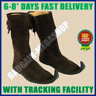 Medieval Leather Boots Brown Reenactment Mens Shoe Role-Play Party Costume Boot