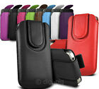 DURABLE COLOUR MAGNETIC BUTTON PULL TAB POUCH CASES FOR THE LATEST TESCO MOBILES