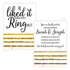 Personalised engagement party invitations HE PUT A RING ON IT GOLD EFFECT FREE E