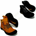 NEW MEN LEATHER WATERPROOF WORK HIKING TRAIL COMFORTABLE WALKING SHOES BOOTS