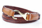 LAUREN Ralph Lauren Hook Buckle Stretch Leather Belt - Lauren Tan