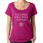 Real Witch Cheeky Witch® Scoop Neck Funny Pagan Pentacle Wiccan Wicca T-Shirt