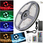 5M 5050/3528 SMD RGB LED Strip Light 12V 5A Power Adapter+ IR Remote Waterproof