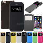 Flip Leather View Window Skin Case Cover for Apple iPhone 6 & iPhone 6 Plus TM
