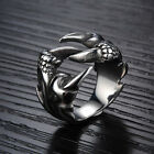 New Mens Jewelry Stylish Titanium Stainless Steel Sliver Animal Sharp Claw Rings