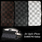 Plaid PU Leather Wallet Flip Case Cover for iPhone 6/ 6 Plus ,Samsung Galaxy